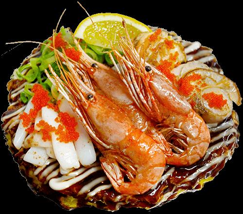 肉厚ホタテとた牡丹エビの贅沢海鮮玉