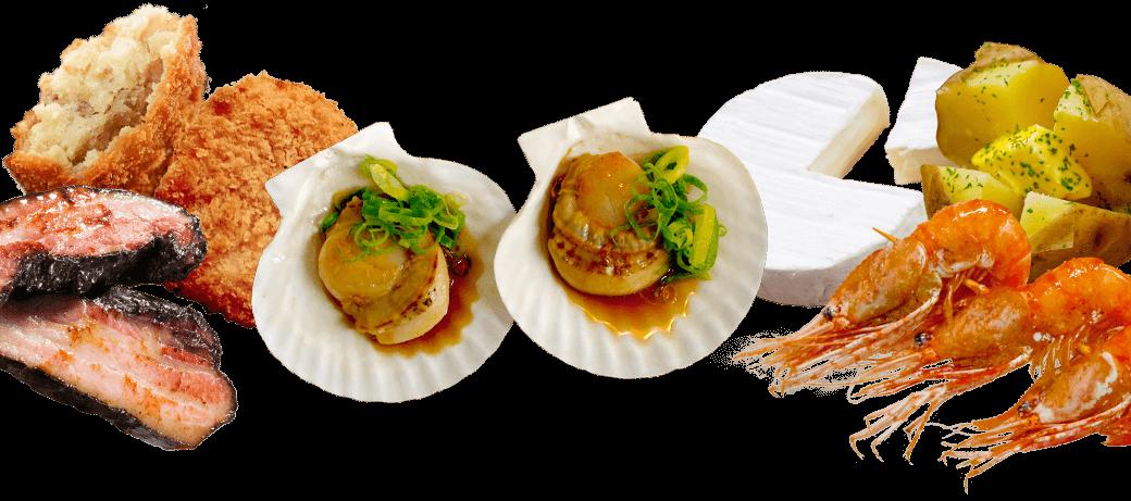 北海道の豊かな食材がどんどん亭にやってきた