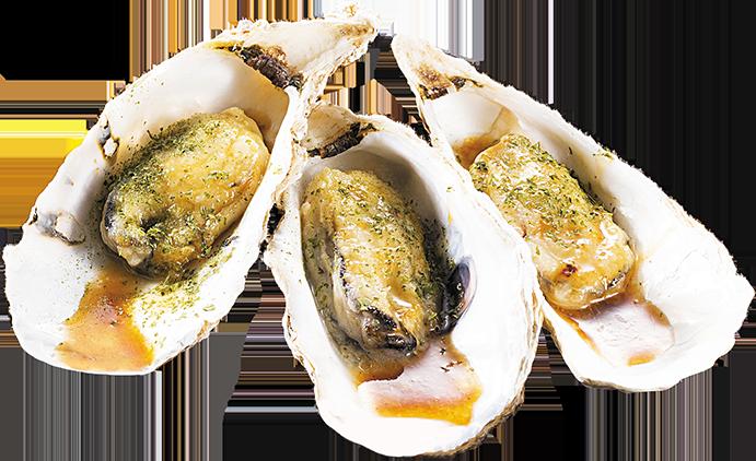 殻付生牡蠣の酒蒸し