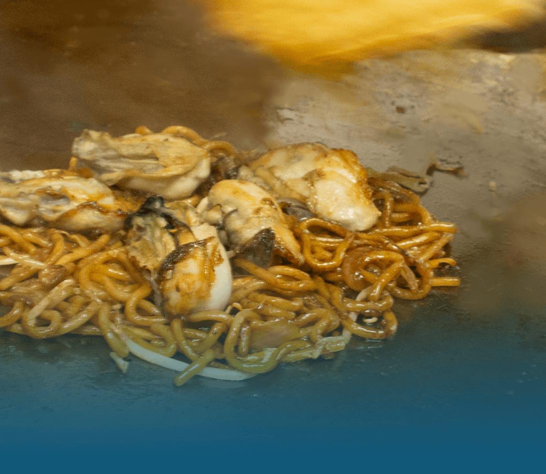 広島風牡蠣お好み焼