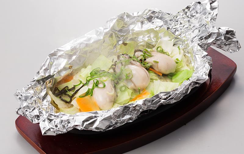 牡蠣のホイル焼