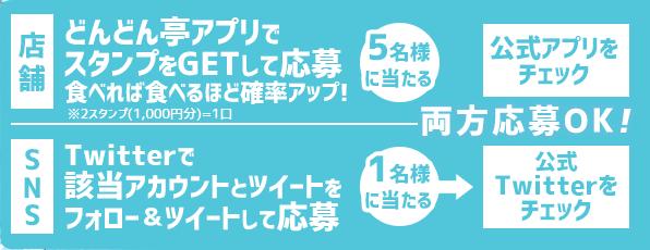店舗キャンペーンとSNSキャンペーンを同時開催!両方参加して当たる確率を上げよう!